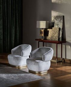 Small armchair that is perfect for furnishing a sophisticated, minimalist lounge with possibility to feature diamond quilting on the back. Home Decor Furniture, Sofa Furniture, Luxury Furniture, Furniture Design, Living Room Sofa Design, Accent Chairs For Living Room, Luxury Office Chairs, Contemporary Furniture, Contemporary Design
