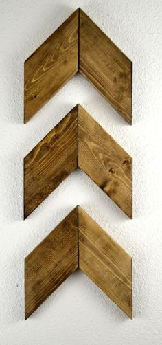 Rustic Wood Arrows Set of 3, Wall Arrows, Chevron, Hanging Arrow, Set of Arrows, Arrow Decor, Modern Decor, Arrow Sign, Wall Decor by MintageDesigns on Etsy https://www.etsy.com/listing/209044967/rustic-wood-arrows-set-of-3-wall-arrows