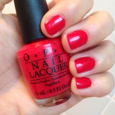 NOTD OPI Coca Cola Collection 2014: Coca Cola Red, from http://www.makeupoholic.wordpress.com
