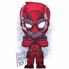 Chibi Deadpool by Lord Mesa Chibi Marvel, Marvel Vs, Marvel Dc Comics, Marvel Heroes, Chibi Superhero, Ultron Marvel, Deadpool Wallpaper, Marvel Wallpaper, Deadpool Animated