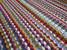My Rose Valley: Crochet shell stitch (5 dc shells) blanket - Voila!