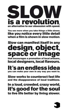 """Le """" <b>slow-design</b> """" est une nouvelle manière de penser sa ..."""