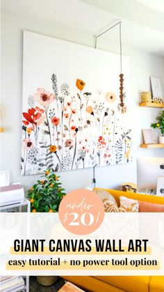 SO EASY! Make this large diy wall art. This easy canvas art diy tutorial includes a hack to add texture to your wall art DIY! Easy Canvas Art, Large Canvas Wall Art, Diy Canvas, Large Canvas Ideas, Large Canvas Paintings, Easy Wall Art, Textured Canvas Art, Large Abstract Wall Art, Cheap Wall Art