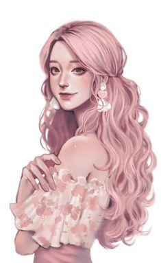 Pretty Anime Girl, Cool Anime Girl, Beautiful Anime Girl, Anime Art Girl, Digital Art Anime, Digital Art Girl, Anime Girl Drawings, Cute Drawings, Character Portraits