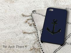 Black Anchor on Blue Word Quote iPhone 4 iPhone 4S by gardenpiano, $15.79
