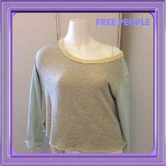 Free People Sweatshirt Sweatshirt with light denim back and sleeves Free People Tops Sweatshirts & Hoodies