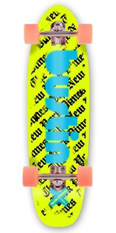 Bustin Boards Dime 29 Longboard Skateboard Complete - Yellow