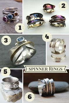 What's New? What is a spinner ring? To put it simply a spinner ring is a combination of rings designed in a way that outer smaller rings spin on the inner ring that en...