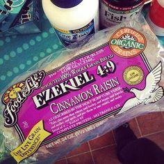 Cinnamon Raisin Ezekiel bread. Best Bread ever!