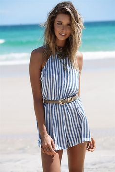 Buy Cassi Stripe Playsuit Online - Playsuits - Women's Clothing & Fashion - SABO SKIRT