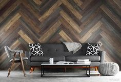 Planks, wood look paneling, are peel & stick wood look wall planks that add the warmth & texture of wood. Easy to create your own pallet wall or reclaimed wood wall. Pallet Walls, Wooden Pallet Furniture, Wood Pallets, Black Furniture, Stick On Wood Wall, Peel And Stick Wood, Wood Sticks, Unique Home Decor, Home Decor Items