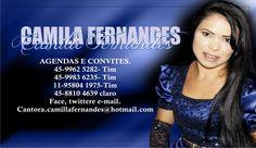 P/ Agendar a Cantora Camilla Fernandes