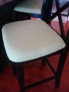 How to add apholstery to chairs that did not previously have it. Never thought of that.