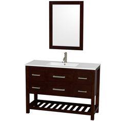 Natalie 48 inch Single Bathroom Vanity in Espresso