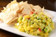 Pineapple Avocado Salsa  http://www.lifesambrosia.com/2012/05/pineapple-avocado-salsa-recipe.html