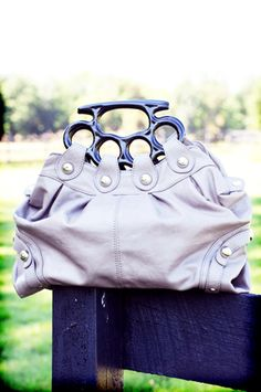brass knuckles purse....hmmmm, try to steal my purse will you!!!