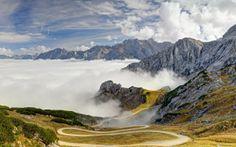 Alps In The Fog Bavaria Germany