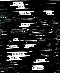 Putting Pinterest to Use: Newspaper Blackout Poems
