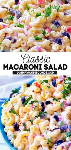 *NEW* Fresh crunchy vegetables, all the right seasonings and elbow pasta are perfectly blended in a thick, creamy mayo-based dressing with a secret ingredient for a memorable classic macaroni salad. #MacaroniSalad #Macaroni #Salad #PastaSalad #SpringRecipes #SummerRecipes #SpringFood #SummerFood #Easter #Appetizer #SideDishes Macaroni Salad Ingredients, Perfect Pasta Recipe, Classic Macaroni Salad, Vegetarian Pasta Dishes, Elbow Pasta, Salad Ideas, Spring Recipes, One Pot Meals, Pasta Recipes