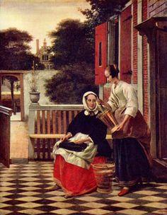 Pieter de Hooch: A Mistress and Her Maid  www.artexperiencenyc.com