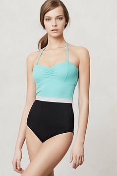 Rodanthe Colorblocked Maillot One-piece on anthropologie.com (online only) —$98.00. Removable strap.