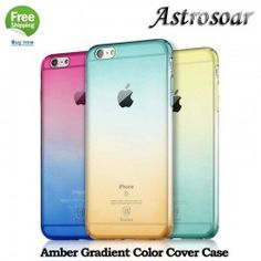astrosoar Amber Case Transparent Gradient Color PC Protective Cover Phone Case for iphone 6