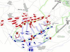 Map of Battle of Waterloo History Pics, Family History, Art History, Waterloo 1815, Battle Of Waterloo, Bataille De Waterloo, Heather King, Military Tactics, Family Genealogy
