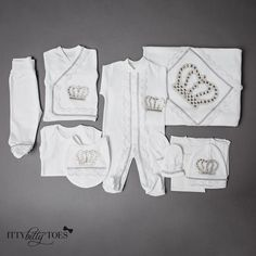 Silver Prince 10 Piece Newborn Set - Itty Bitty Toes - 1
