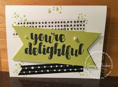 Inspired Stamping by Janey Backer: New Catalog Sip & Stamp Photos, Your Delightful, Lemon Lime Twist, washi tape, Stampin' Up!