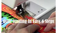 This tutorial is exciting because we are learning 6 easy steps for binding our quilts! 1. The ladies at Heirloom Creations start us off by cutting our binding. You will want to cut it between 2 and 1/4 or 2 and 1/2 inch srips using a rotary cutter. Remember to always cut away from your …
