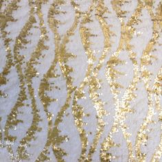 Taupe Gold Floral Design Lace with Taupe Gold Sequins Fabric