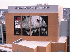 A great building wrap for a science museum.