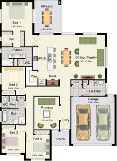 Move garage laundry and replace with a games room, great for out block? Move garage laundry and replace with a games room, great for out block? …repi… Move garage l 4 Bedroom House Plans, Dream House Plans, Modern House Plans, House Floor Plans, The Plan, How To Plan, Hotondo Homes, Home Design Floor Plans, House Blueprints