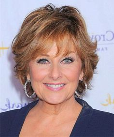 Short Layered Hairstyles for Women over 60 with Round Faces.