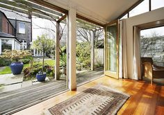 Garden Studio. Dublin by Dorman Architects, via Flickr Garden Studio, Inside Outside, Dublin, Pergola, Outdoor Structures, Windows, Architects, Houses, Homes