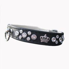 Halsband Crown schwarz