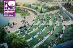 The amphitheater at Historic Fourth Ward Park, part of the Atlanta BeltLine… Outdoor Stage, Outdoor Theater, Landscape And Urbanism, Landscape Architecture Design, Landscape Architects, Parque Linear, Atlanta Beltline, Exterior, Urban Renewal
