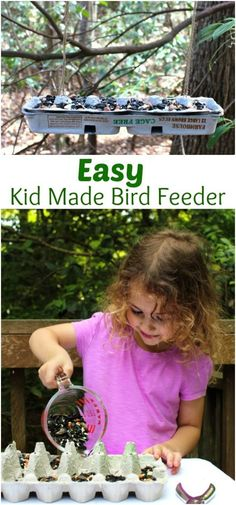 Easy Kid Made Bird Feeder from Recycled Material is a great DIY bird feeder. Making homemade bird feeders for your backyard is a great way for you and your children to get to learn about backyard birds. How To Make a Bird Feeder Out of Recycled Materials, Bird Feeder Craft, Homemade Bird Feeder, Kid Made Bird Feeder, DIY Bird Feeder, Easy Bird Feeder for Kids to make, spring craft idea, Backyard Birds Activities and Bird Theme, Nature Activities, #montessori #birdfeeder #kidsactivities #bird