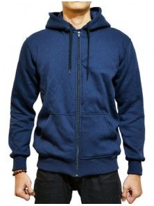 Sweater Polos | Zipper Navy Hitam