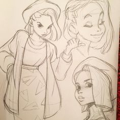 sketches behance 2016 on Sketches 2016 on BehanceYou can find Character sketches and more on our website Art Drawings Sketches, Cartoon Drawings, Cartoon Art, Cute Drawings, Cartoon Memes, Drawing Faces, Cartoon Characters, Character Sketches, Character Drawing