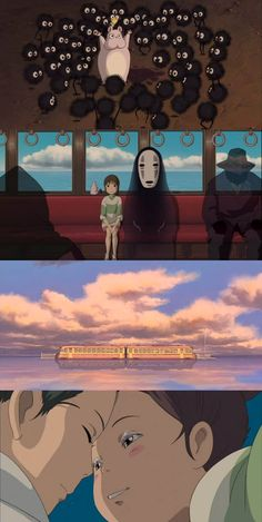 """Sen to Chihiro no kamikakushi"" (""Spirited away"")Sen to chihiro no Kamikakushi 千と千尋の神隠し Studio Ghibli Art, Studio Ghibli Movies, Hayao Miyazaki, Chihiro Cosplay, Chihiro Y Haku, Studio Ghibli Spirited Away, Castle In The Sky, Japanese Film, Howls Moving Castle"