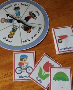 Get kids moving while counting syllables with the syllable action spinner. Clap, jump, stomp, etc. as you count syllables. -syllable activities for preschool, pre-k, and kindergarten