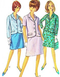1960s Womens Suit Pattern Simplicity 6893 A Line by paneenjerez, $12.00