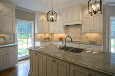 Painted and glazed custom cabinets #whitecabinets #cabinets #walkerwoodworking