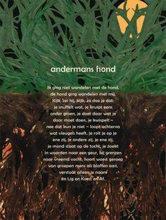 Aan de muur - Poëzieposters - poëzieposter Andermans hond Joke van Leeuwen