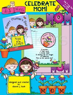 Mothers Day printables, Celebrate Mom, Happy Mother's Day, mother's day ideas for kids, mother's day card