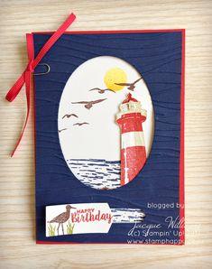 stampin up high tide light up card