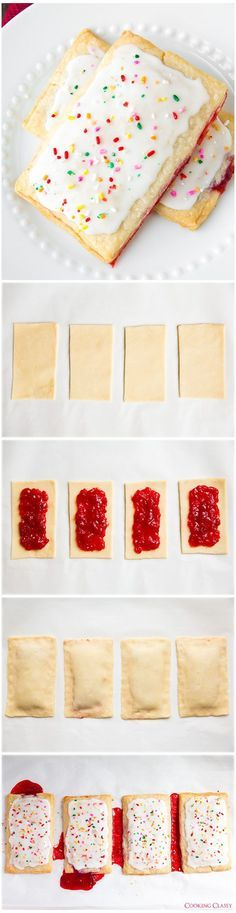 Homemade Pop Tarts - Seriously once you try these you'll never looked at the boxed kind the same again. Melt in your mouth delicious!!