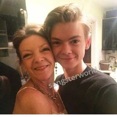 TBS with his mom I'm guessing. He's so adorable.