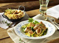 Putenpfanne mit Mangold und Kartoffelgratin #pute #turkey #putenpfanne #geflügel #gefluegel äpoultry #mangold #kartoffel #kartoffelgratin #gratin #herbst #genuss #rezept #recipe